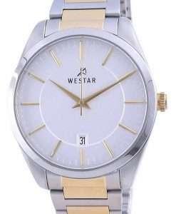 Westar Silver Dial Two Tone Stainless Steel Quartz 50213 CBN 107 Men's Watch
