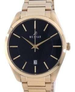 Westar Black Dial Gold Tone Stainless Steel Quartz 50213 GPN 103 Men's Watch