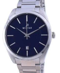Westar Blue Dial Stainless Steel Quartz 50213 STN 104 Men's Watch
