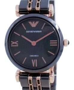 Emporio Armani Gianni T-Bar Ceramic Quartz AR70005 Women's Watch