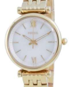 Fossil Carlie Mini Gold Tone Stainless Steel Quartz ES5067SET With Gift Set Women's Watch