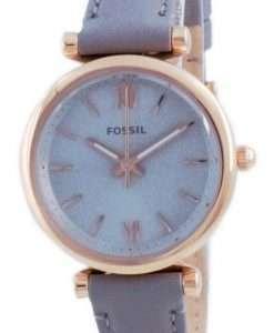Fossil Carlie Mini Grey Dial Leather Quartz ES5068 Women's Watch