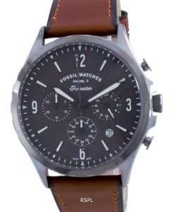 Fossil Forrester Chronograph Leather Quartz FS5815 Men's Watch