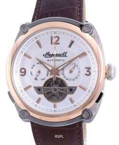 Ingersoll The Michigan White Dial Open Heart Automatic I01103B Men's Watch
