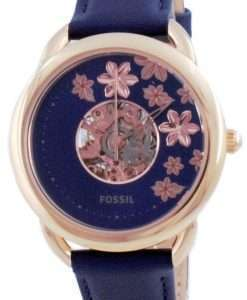 Fossil Tailor Me Semi Skeleton Leather Automatic ME3186 Women's Watch