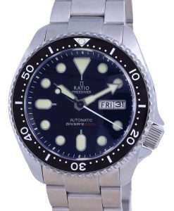 Ratio FreeDiver Black Dial Sapphire Stainless Steel Automatic RTA100 200M Mens Watch