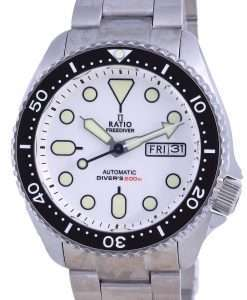 Ratio FreeDiver White Dial Sapphire Stainless Steel Automatic RTA109 200M Mens Watch