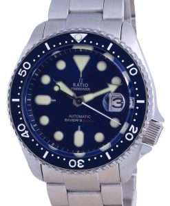 Ratio FreeDiver Blue Dial Sapphire Stainless Steel Automatic RTB202 200M Mens Watch