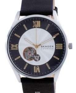 Skagen Holst Open Heart Leather Automatic SKW6710 Men's Watch