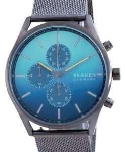 Skagen Holst Chronograph Blue Dial Quartz SKW6734 Men's Watch