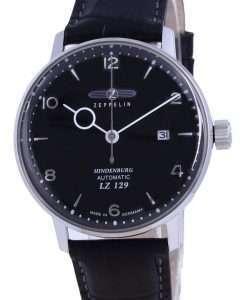 Zeppelin LZ129 Hindenburg Black Dial Leather Automatic 8062-2 80622 Men's Watch