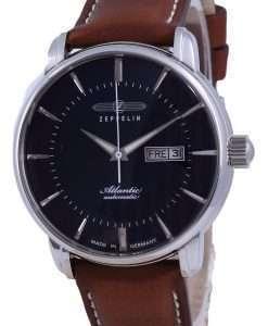 Zeppelin Atlantic Blue Dial Leather Automatic 8466-3 84663 Men's Watch