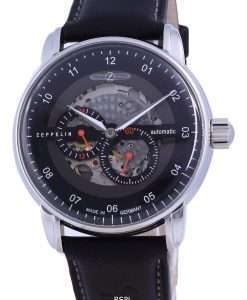 Zeppelin Captain's Line Skeleton Leather Automatic 8664-2 86642 Men's Watch