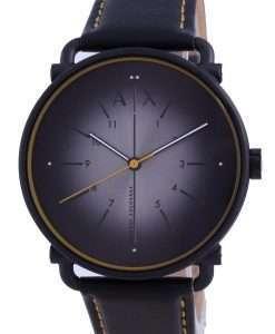 Armani Exchange Rocco Grey Dial Leather Quartz AX2904 Mens Watch