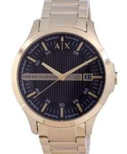 Armani Exchange Hampton Black Dial Quartz AX7124 Mens Watch With Strap Gift Set