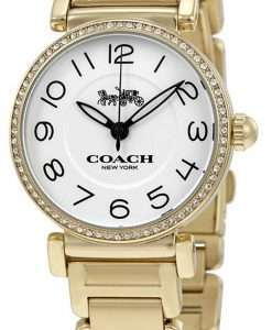 Coach Madison Crystal Accents Gold Tone Stainless Steel Quartz 14502855 Womens Watch