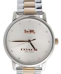Coach Grand Silver Dial Two Tone Stainless Steel Quartz 14502930 Womens Watch