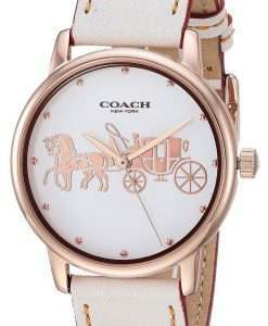 Coach Grand White Dial Rose Gold Tone Stainless Steel Quartz 14502973 Womens Watch