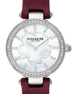 Coach Park Crystal Accents Leather 14503102 Womens Watch