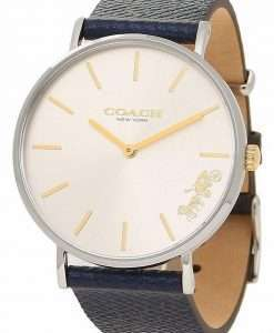 Coach Perry White Dial Leather Quartz 14503156 Womens Watch