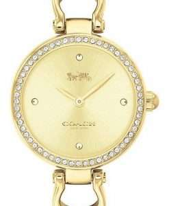 Coach Park Sig C Crystal Accents Gold Tone Stainless Steel Quartz 14503171 Womens Watch