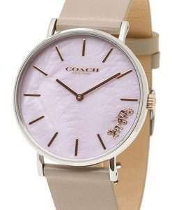 Coach Perry Lilac Mother of Pearl Dial Leather Strap Quartz 14503245 Womens Watch