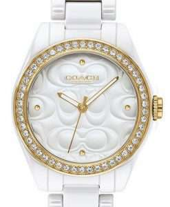 Coach Astor White Dial Crystal Accents Quartz 14503254 Womens Watch