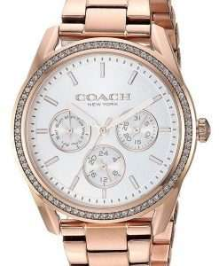Coach Preston Silver Dial Rose Gold Stainless Steel Bracelet Quartz 14503267 Womens Watch