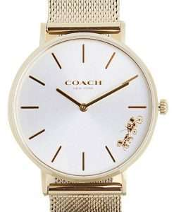 Coach Perry Silver Dial Gold Tone Stainless Steel Quartz 14503337 Womens Watch