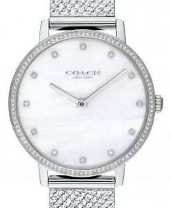 Coach Audrey Mother Of Pearl Dial Stainless Steel Quartz 14503358 Womens Watch