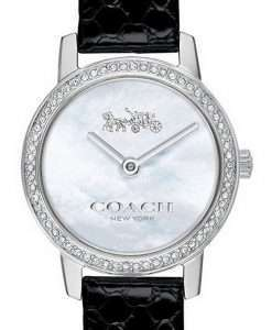 Coach Audrey Mother Of Pearl Dial Leather Strap Quartz 14503361 Womens Watch