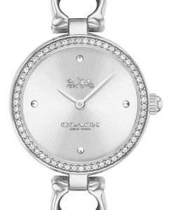 Coach Park Signature C Crystal Accents Stainless Steel Quartz 14503448 Womens Watch