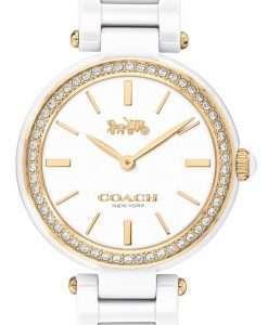 Coach Park Crystal Accents Ceramic Quartz 14503451 Womens Watch