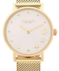 Coach Perry Silver Dial Gold Tone Stainless Steel Quartz 14503521 Womens Watch