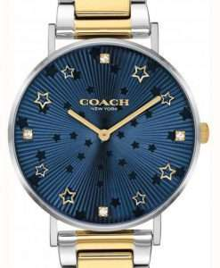 Coach Perry Blue Dial Two Tone Stainless Steel Quartz 14503523 Womens Watch