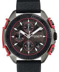 Coach C001 Black Dial Silicon Band Quartz 14602453 Mens Watch