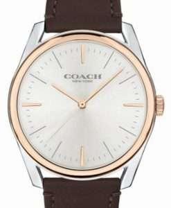 Coach Preston Silver Dial Leather Strap Quartz 14602482 Womens Watch