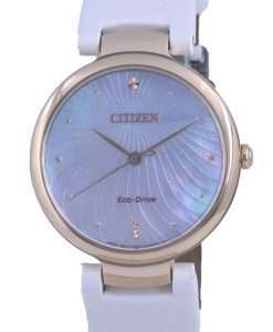 Citizen Mother Of Pearl Dial Satin Eco-Drive EM0853-22D Womens Watch