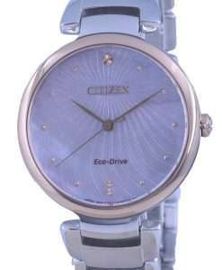Citizen Mother Of Pearl Dial Two Tone Stainless Steel Eco-Drive EM0854-89Y Womens Watch