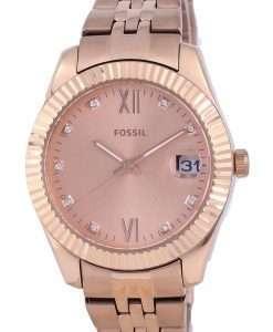 Fossil Scarlette Mini Rose Gold Tone Stainless Steel Quartz ES4898 Womens Watch