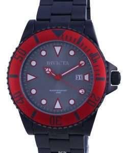 Invicta Pro Diver Grey Dial Stainless Steel Quartz 90296 200M Mens Watch