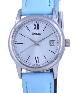 Casio Blue Dial Stainless Steel Analog Quartz LTP-V002L-2B3 LTPV002L-2 Womens Watch