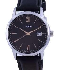 Casio Black Dial Stainless Steel Analog Quartz MTP-V002L-1B3 MTPV002L-1 Mens Watch