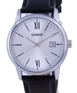 Casio Silver Dial Stainless Steel Analog Quartz MTP-V002L-7B3 MTPV002L-7 Mens Watch