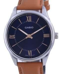 Casio Blue Dial Stainless Steel Analog Quartz MTP-V005L-2B5 MTPV005L-2 Mens Watch