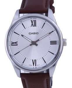 Casio Silver Dial Stainless Steel Analog Quartz MTP-V005L-7B5 MTPV005L-7 Mens Watch