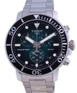 Tissot T-Sport Seaster 1000 Chronograph Diver's Quartz T120.417.11.091.01 T1204171109101 300M Men's Watch